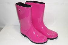BIG KIDS / GIRL UGG RAANA PINK RAINBOOTS RUBBER RAIN BOOTS SIZE 6