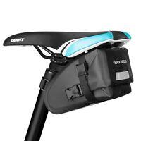 RockBros Waterproof Bike Saddle Bag Reflective Rear Seatpost Bicycle Black Bag