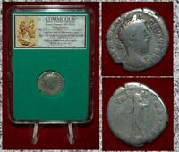 Ancient Roman Empire Coin Of COMMODUS Jupiter On Reverse Silver Denarius
