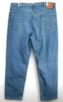 New Levis Mens 550 0059 Blue Relaxed Fit Straight Stretch Denim Jeans Sz 42 x 32
