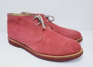 Men's WALK-OVER Salmon/Pink Suede Desert Ankle Boots Size 11 D