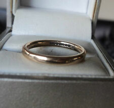 UNUSUAL 9ct Yellow Gold Wedding Band Ring h/m B'ham 1946 + Utility Mark - size P