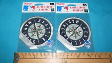 2 RARE MIP SEATTLE MARINERS MLB BASEBALL OFFICIAL STICKER PATCH CREST