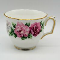 Crown Staffordshire Bone China Tea Cup ONLY Trinity Rose Pattern Vintage