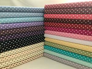 3mm Polka Dot Collection 100% Cotton Fabric, Sewing, Craft, Spots ROSE & HUBBLE