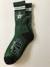 Dallas Stars Adult 4 Stripe Team Color Socks-1pair-Large New Free S/H (c9)