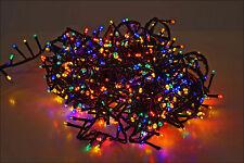 Weihnachtsbaum Lichterkette 700 LED - bunt - Innen Außen - 8x Funktion, Speicher