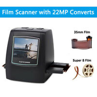 """2.4"""" LCD Screen 22MP Film Scanner Converts into Digital Photos + 128MB Memory"""