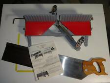 """Langdon Acme Millers Falls Miter Box No.74 NOS & Disston Saw 28"""" x 5"""" Scarce USA"""