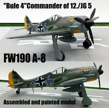 WWII German FW190 A-8 Bule 4 of 12 JG 5 aircraft 1/72 diecast plane Easy model