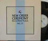 "NEW ORDER ~ Ceremony ~ 12"" Single PS"