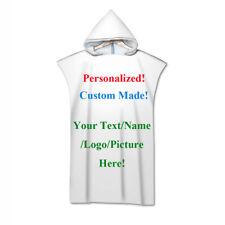 Christmas Gift Custom Made Personalized Hooded Surf Swim Bath Beach Towel Poncho