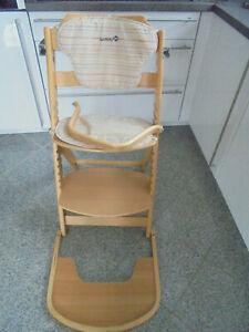 Safety 1st 27608032 mitwachsender Hochstuhl Treppenhochstuhl Timba Holz