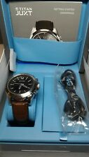 HP Titan Juxt Stainless Steel With Brown Elegant Strap Mens Smartwatch