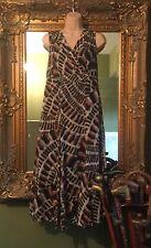 Ladies Per Una Beautiful Brown Autumn Sheath Dress Size 12 Long