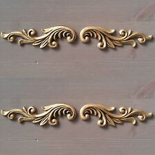 2 X Sets Of Antique Gold Furniture Drawer Scroll Resin Applique Moulding Chic