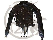 Original Cow Leather Strait Jacket Bondage Chest Flaps Custom Size