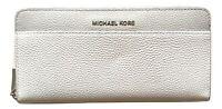 MICHAEL KORS portafoglio/portacarte donna in pelle 32T8SF6Z3T bianco grigio