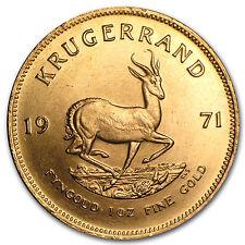 1971 South Africa 1 oz Gold Krugerrand - SKU #63875
