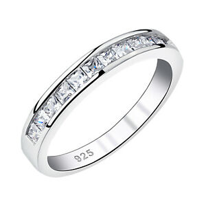 Stackable Band Wedding Engagement Eternity Ring For Women 925 Sterling Silver Cz