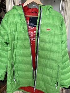 2117 of Sweden,Skane winter jacket,apple green,red lining,L,pristine.