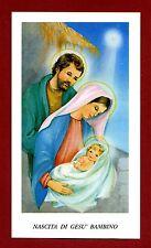 SANTINO - HOLY CARD- IMAGE PIEUSE - Heiligenbild NASCITA DI GESU' BAMBINO