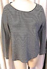 Ralph Lauren M/L Navy and White Cotton Blend Knit Long Sleeved Tee-Shirt Top