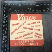 AUTHENTIC VINTAGE CARDBOARD BEER MAT COASTER VAUX BEERS TO BOAST ABOUT HORSE