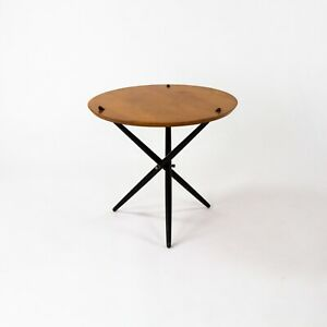 1951 Hans Bellman Small Tripod Table for Knoll Associates No 103 with 24 in Top
