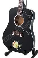 Miniature Black Acoustic Guitar Jon Bon Jovi /& Strap