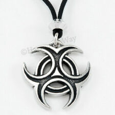 TRIPLE CRESCENT MOON Necklace GODDESS pendant Pagan Wiccan Wicca Jewelry