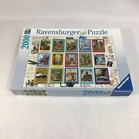 Ravensburger Vacation Stamps 2000 Piece Jigsaw Puzzle World Travel COMPLETE