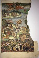 Deux GRAVURES DU XVIéme siècle mise en couleurs pour l'ARIOSTE :chants 8 Et 9