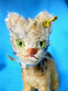 """VINTAGE  STEIFF LIZZY CAT KITTEN  7""""  SCRUFFY"""