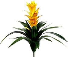 "21"" Yellow or Red Guzmania Plant Tropical Artificial Flowers Bromeliad Hawaiian"