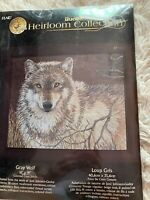 Rare Bucilla Heirloom Gray Wolf Counted Cross Stitch Kit