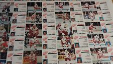 24 card Little Caesars Detroit Red Wings uncut sheet Lidstrom Konstantinov Burr