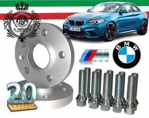 2 DISTANZIALI da 20 MM 5/120/72,6 + Bulloni M12x1,50 x BMW SERIE 1 E81 2 E87 E88