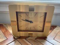 Hour Lavigne a Paris Quartz Table Clocks Brass/Wood Art Decor 20 x17x5 cm WORKS