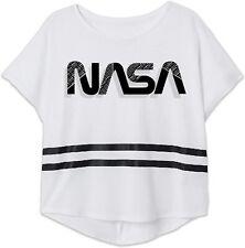 Nasa Girls Cotton Short Sleeve Crop Top T Shirt