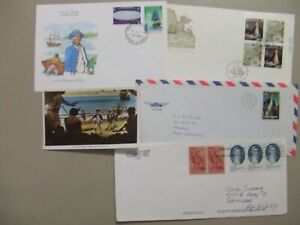Five covers with Captain Cook stamps.One card sent to ELWOOD R.ETTER