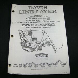 CASE DAVIS P40 Line Layer Attachment for Task Force 200 300 500 700 Parts Manual