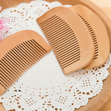 2Pcs Peach Rounded Wooden Comb Head Massage Anti-off Anti-static Healthy Comb