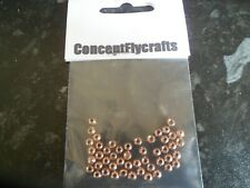 PACK OF 50 GOLDHEAD COUNTERSUNK BRASS BEADS ROSE GOLD FINISH 4mm for Fly Tying