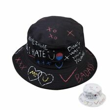 d9c6e40ebafba7 Harajuku Letters Graffiti Bucket Hat Men Women Fisherman Sun Hat Spring  Summer