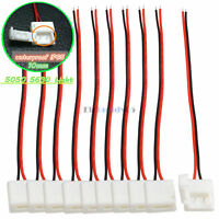 10pcs Silicone Clip-on Connector with Cable 2 Pin 10mm for  5050 5630 IP65 Light