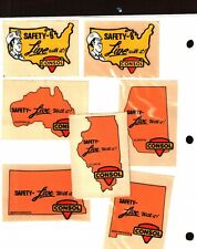 NICE SET 15 DIFFERENT STATES SAFETY CONSOL COAL CO. COAL MINING STICKER # 389