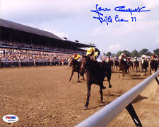 Jean Cruguet SIGNED 8x10 Photo + Triple Crown 77 Jockey ITP PSA/DNA AUTOGRAPHED