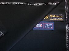 100% FINEST WOOL SUITING (GABERDINE) FABRIC–MADE IN ENGLAND By Martin Sons-3.4 m