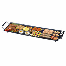 Nonstick Electric Teppanyaki Camping Counter Table Top Grill Pan Egg Griddle BBQ